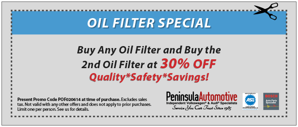 oil filter special coupon