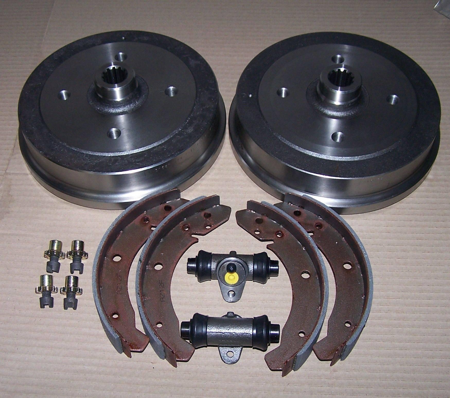 Vw Bug Air Cooled Wheels: Rear-brake-drums-wheel-cylinders-brake-adjusters-brake